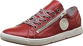 Pataugas 625114 - Zapatillas de Deporte de Lona Mujer, Rojo (Rojo (Coquelicot 062)), 36 EU