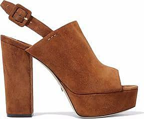 PAUL ANDREW Woman Senato Suede Platform Mules Light Size 40