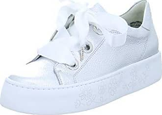 Paul Green 4583-022 Damen Sneaker Aus Perforiertem Glattleder Lederinnensohle, Groesse 4, Silber
