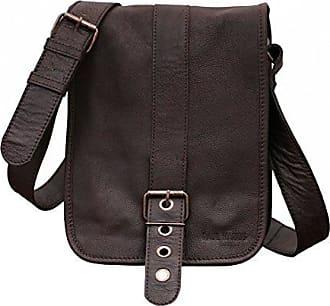 LeGrand Express M Indus Tiefdunkelbraun Vintage Leder Umhängetasche Vintage Aktentasche Businesstasche Schultertasche (A4) PAUL MARIUS PAUL MARIUS