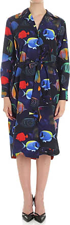 Blue and black fish printed dress Paul Smith