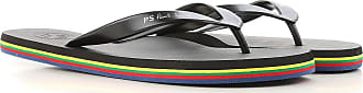 Flip Flops for Men On Sale, Black, Rubber, 2017, S (EU 40-41) M (EU 42-43) L (EU 44-45) Paul Smith