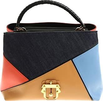Paula Cademartori Red brown and blue Mae Boho handbag
