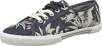 Pepe Jeans London Aberlady Satin, Zapatillas para Mujer, Azul (Dk Ocean), 39 EU