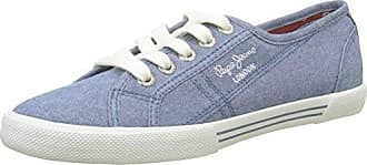 Pepe Jeans London Aberlady Palm, Zapatillas Para Mujer, Azul (Dk Denim), 38 EU