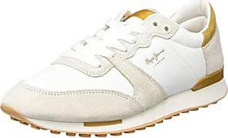 Pepe Jeans London, Sneakers Basses Femme, Blanc (White), 38 (EU)