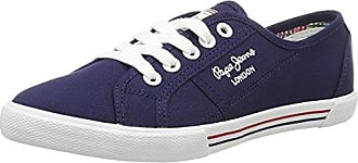 London, Sneakers Basses Femme, Bleu (Marine), 37 (EU)Pepe Jeans London