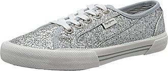 London Stark Blim, Sneakers Basses Femme, Argent (Silver), 41 EUPepe Jeans London