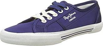 Pepe Jeans London Aberlady Satin, Zapatillas para Mujer, Azul (Dk Ocean), 40 EU