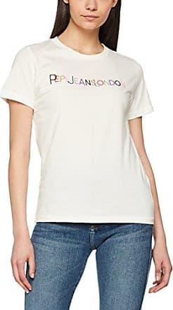 Pepe Jeans London Mara, Camiseta para Mujer, Blanco (Off White), Large