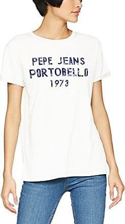 Stripe Boyfriend Fit Logo T-Shirt - Off white Pepe Jeans London