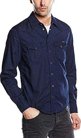 Carson-Camisa Hombre, Bleu (Worker Dark Blue), Large Pepe Jeans London