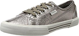 Pepe Jeans London Aberlady Fresh, Zapatillas Para Mujer, Plateado (Chrome), 39 EU