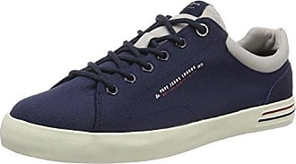 London - Scarpe da Ginnastica Basse Uomo, Blu (Dk Denim), 45 (EU) Pepe Jeans London