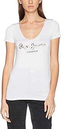 Martina, T-Shirt Femme, Blanc (Off White), FR: 44 (Taille Fabricant: XL)Pepe Jeans London