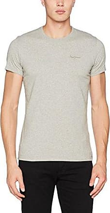 Rosy - T-Shirt - Imprimé - Femme - Gris (Grey Marl 933) - FR: 40 (Taille Fabricant: M)Pepe Jeans London