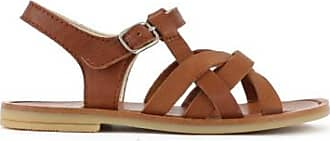 Sale - Two Con Me Cross Strap Leather Sandals - Pèpè Pepe Jeans London