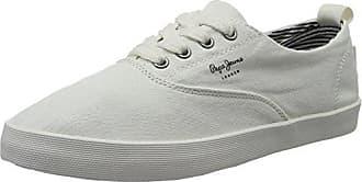 Pepe Jeans London Brompton Square, Zapatillas para Mujer, Blanco (White), 38 EU