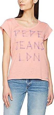 Roxana - T-Shirt - À Fleurs - Manches Courtes - Femme - Rose (Mauve Pink) - FR: 40 (Taille Fabricant: M)Pepe Jeans London