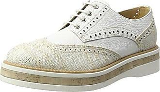 3813, Zapatos de Cordones Derby para Mujer, Blanco (Bianco Bianco), 38 EU Peperosa