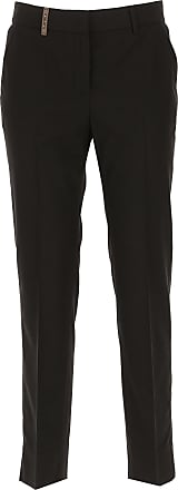 Pants for Women On Sale, Black, polyester, 2017, 34 PESERICO