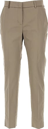Pants for Women On Sale, Beige, Cotton, 2017, 28 30 32 34 PESERICO