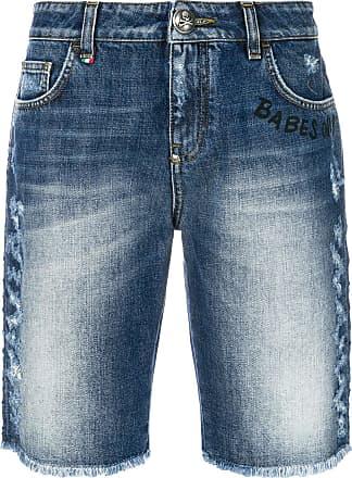 Shorts for Men On Sale, Blue Denim, Cotton, 2017, US 30 - EU 46 US 32 - EU 48 US 34 - EU 50 Philipp Plein