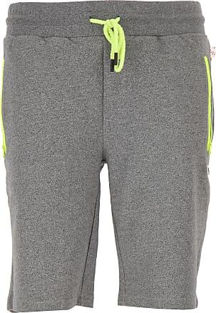 Shorts for Men On Sale, Grey, Cotton, 2017, M S Philipp Plein