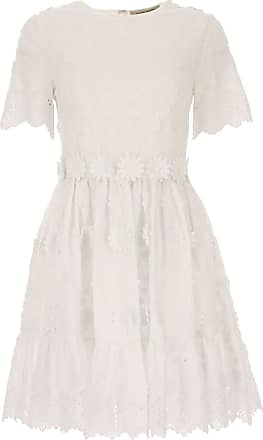 Dress for Women, Evening Cocktail Party On Sale, White, Cotton, 2017, 10 12 8 Piccione.Piccione