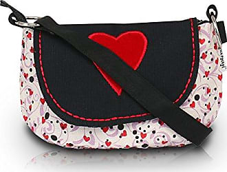 Damen Clutch Mehrfarbig Schwarz/Rot Pick Pocket