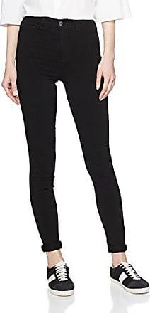 Pieces PCJUST Wear Coated Jeggings/BLK Noos, Pantalones Mujer, Negro (Black), 34 (Talla del Fabricante: XS/S)