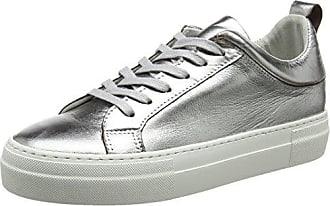 pieces Pieces Silber-Leder- Sneaker, silberfarben, Silver Colour