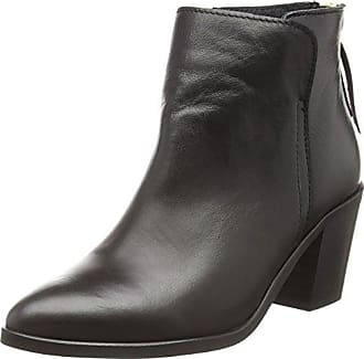 PIECES Umiko Leather Zipper Boot, Damen Stiefel & Stiefeletten Schwarz (Black) 40