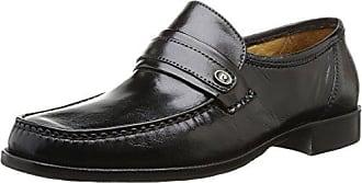 Pierre Cardin Jetko - Zapatos de cordones de cuero para hombre negro Noir (Martinica Noir) 43.5