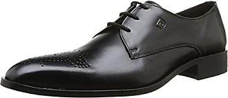 Pierre Cardin Barius - Zapatos de cordones de cuero para hombre negro Noir (Nappa Noir) 43
