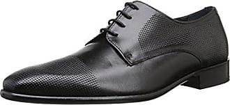 Pierre Cardin Barius - Zapatos de cordones de cuero para hombre negro Noir (Nappa Noir) 45