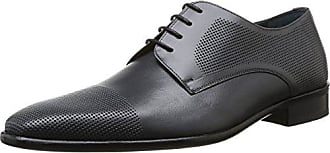 Pierre Cardin Foni - Zapatos de cordones de cuero para hombre gris Gris (Prestige Gris) 45