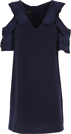 Dress for Women, Evening Cocktail Party On Sale, Navy Blue, Silk, 2017, 10 12 8 Pinko