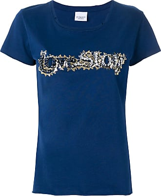 T-Shirt for Women On Sale, Light Blue, Cotton, 2017, 10 12 14 Pinko