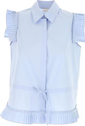 Shirt for Women On Sale, Blue, Cotton, 2017, 28 Pinko