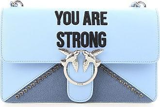 Pinko Shoulder Bag for Women On Sale, Light Blue, Leather, 2017, one size