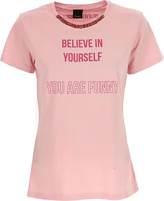 T-Shirt for Women On Sale, Light Pink, Cotton, 2017, 6 8 Pinko