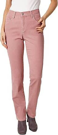 Womens Straight Jeans, Red (Peach Red - Stone Bleached 194), 38/30 Pioneer Authentic Jeans