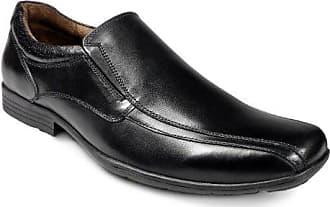 Jungen Leder Strammer Schule Schuhe mit Spitze Krawatte Verschluss - schwarz - UK Größen 1-13 - Schwarz, 25.5