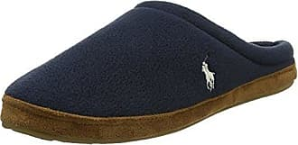 Polo Ralph Lauren Men's Jacque, Zapatillas de Estar por Casa para Hombre, Gris (Grey Fleece W Navy PP 000), 41 EU