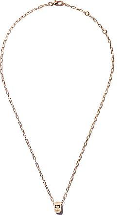 POMELLATO Mama Non Mama Pendant Necklace in Rose Gold with Moonstone & Diamonds
