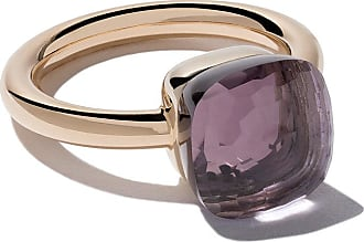 POMELLATO 18kt rose & white gold small Nudo amethyst ring - Unavailable