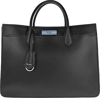 Tote - Borsa A Mano Dual Tote Leather Pomice/Argilla - grey - Tote for ladies Prada