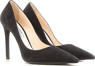 Pumps & High Heels for Women On Sale, Black, Suede leather, 2017, 8.5 Prada
