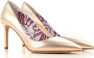 Zapatos de Tacón de Salón Baratos en Rebajas, Talco, Piel, 2017, 38 38.5 40 Prada